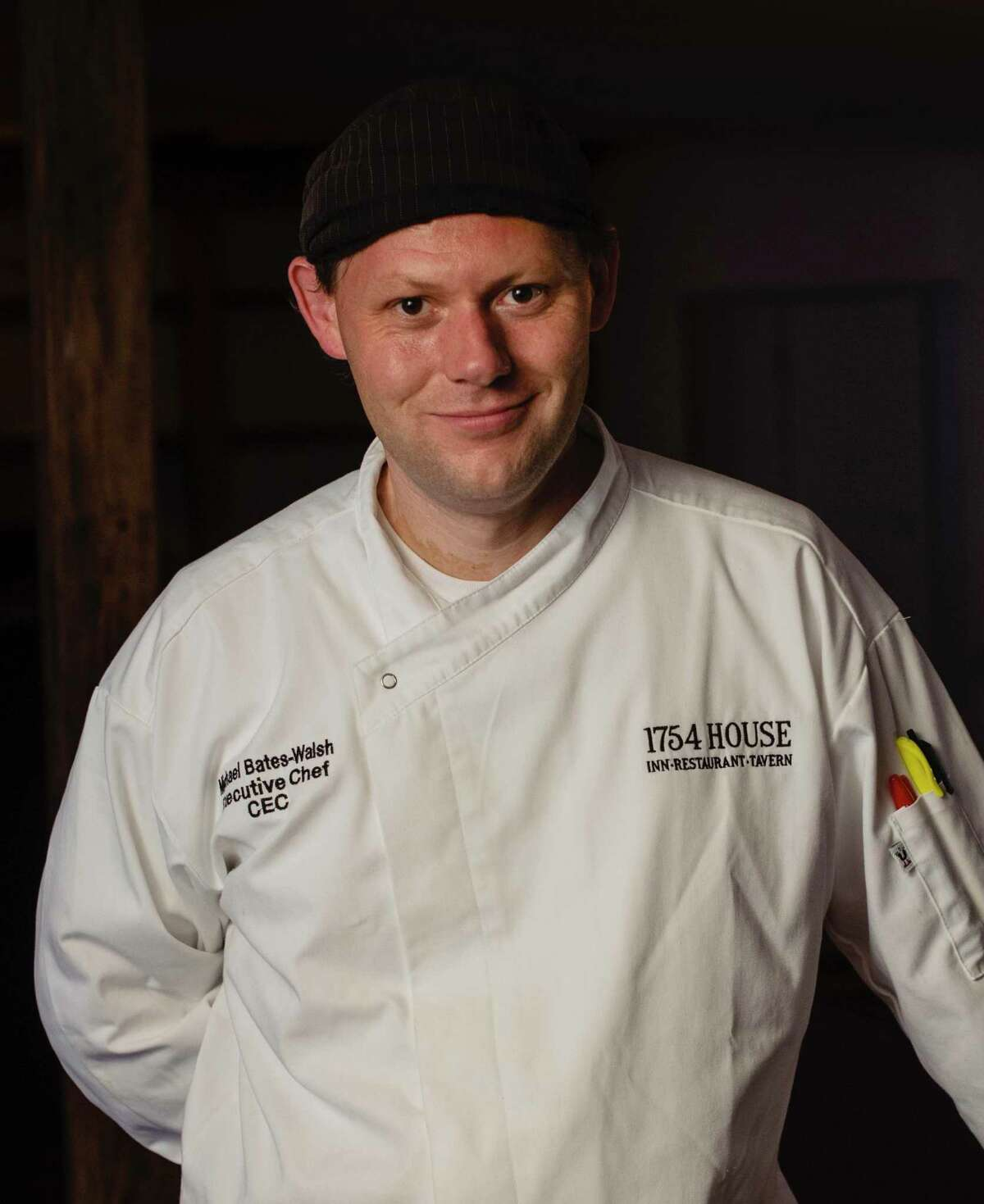 Michael Bates-Walsh is the chef owner of the 1754 House in Woodbury. The menu at 1754 House comprises what Bates-Walsh calls