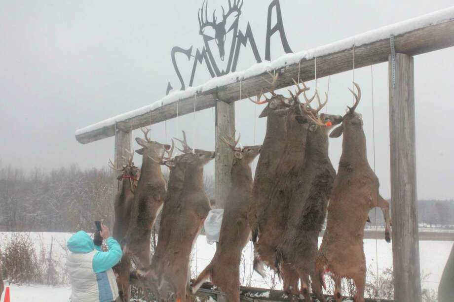 The SMWMA buck pole will open at noon on Monday. (Pioneer file photo)