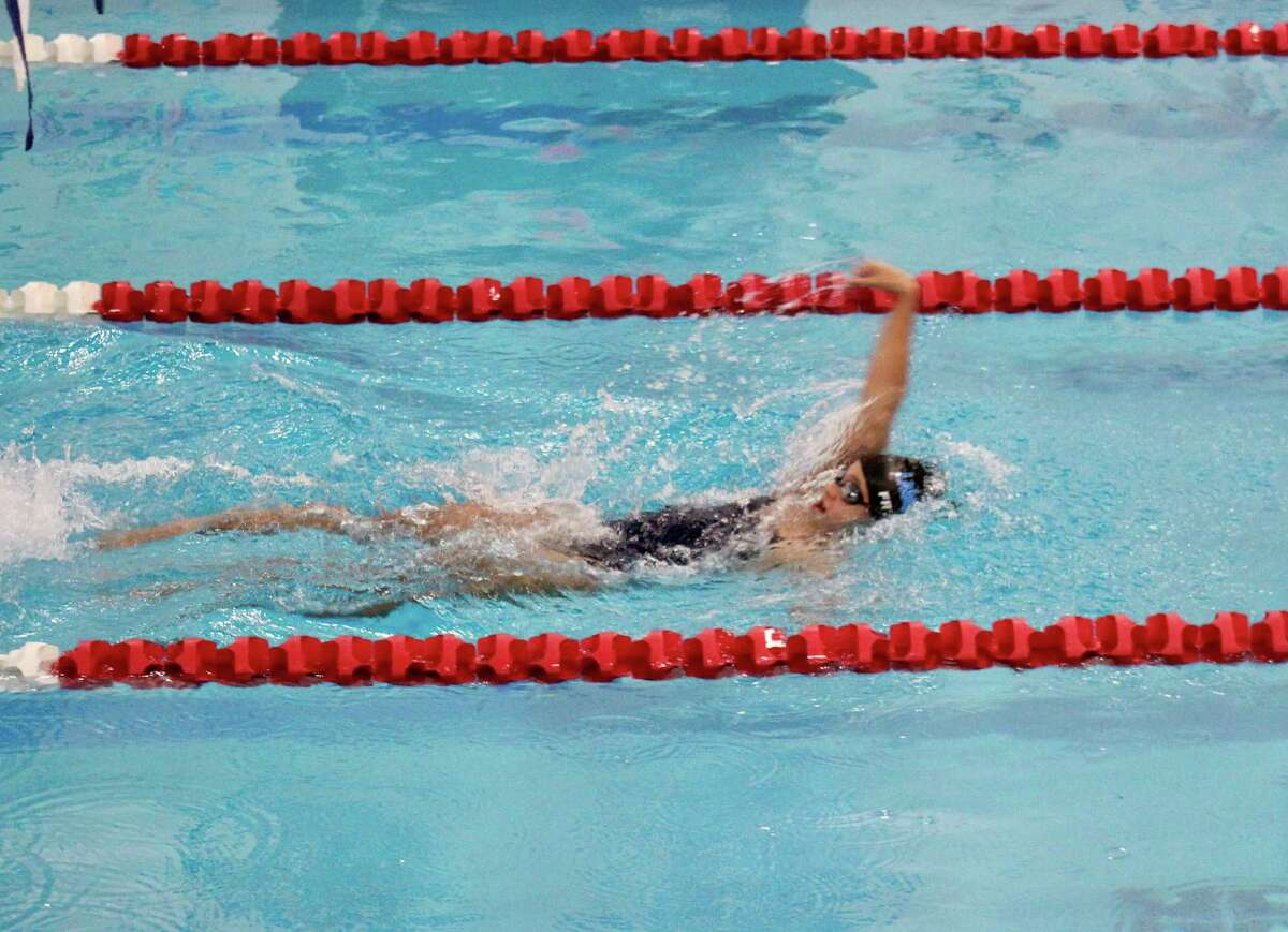 Vivian Freitas won the 100-yard backstroke title at the SCC championships for Lauralton Hall.