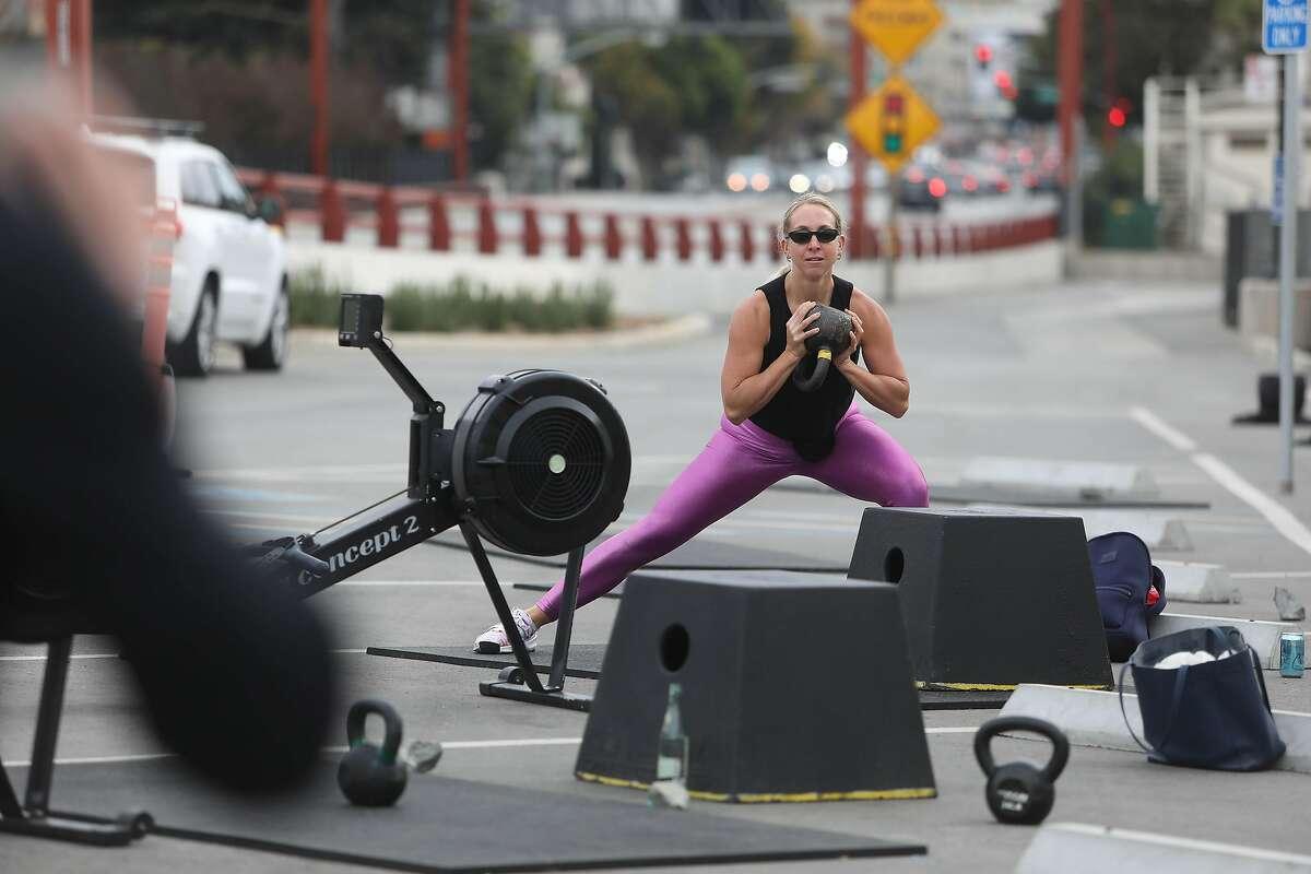Laura Pennington trains at San Francisco CrossFit.