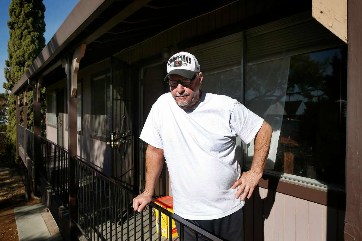 Brian Forrestall, who voted for President Trump, reflects on the results of the general election in front his home in Fairfield, Calif. on Tuesday, Nov. 10, 2020.