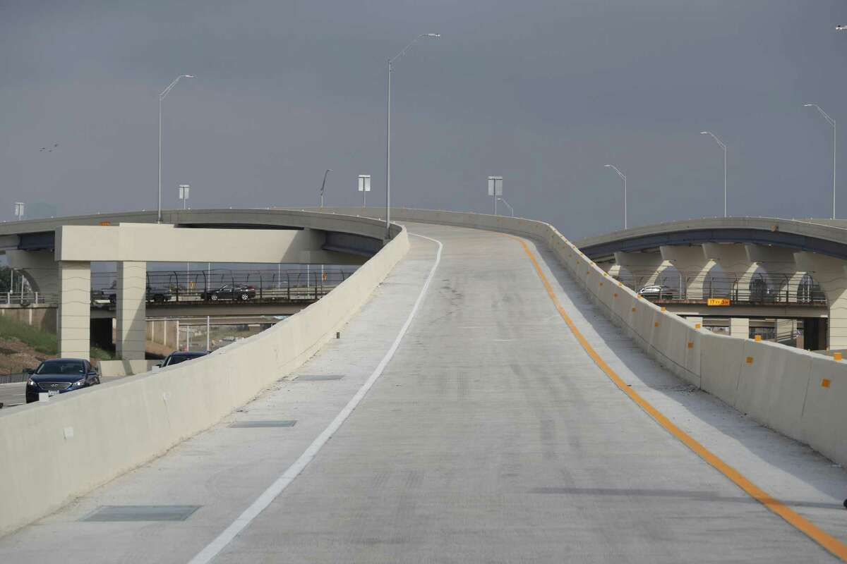 A view of the entrance ramp from Holcombe to the new southbound Texas 288 toll lanes, which open Nov. 16, seen Nov. 13 in Houston.