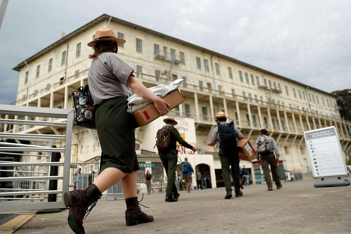 Tourist visits to Alcatraz resumed Aug. 17, without the conservancy's self-guided cell-house audio tours.