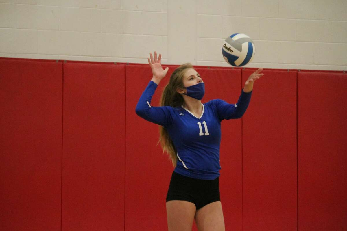 Onekama's volleyball team ends its season in the regional championship round against Fowler on Nov. 12.