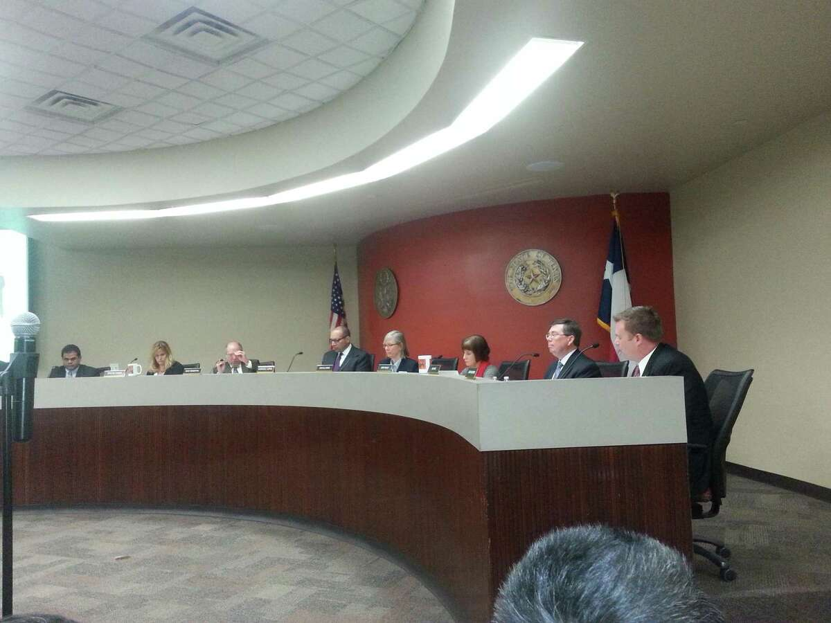 The Fort Bend ISD Board of Trustees, shown in this file photo, will canvass results from the most-recent election and swear in elected board members on Monday, Nov. 16.