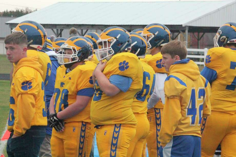 Evart's football team put in a dramatic effort against Oscoda in Friday's district title game. Oscoda won 38-35. (Pioneer file photo)