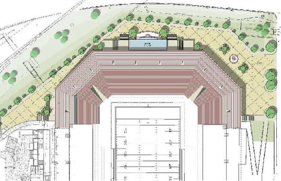 Here is an artist's rendering of an upper bowl expansion plan, adding 13,500 seats to the north end of Texas State's Bobcat Stadium.