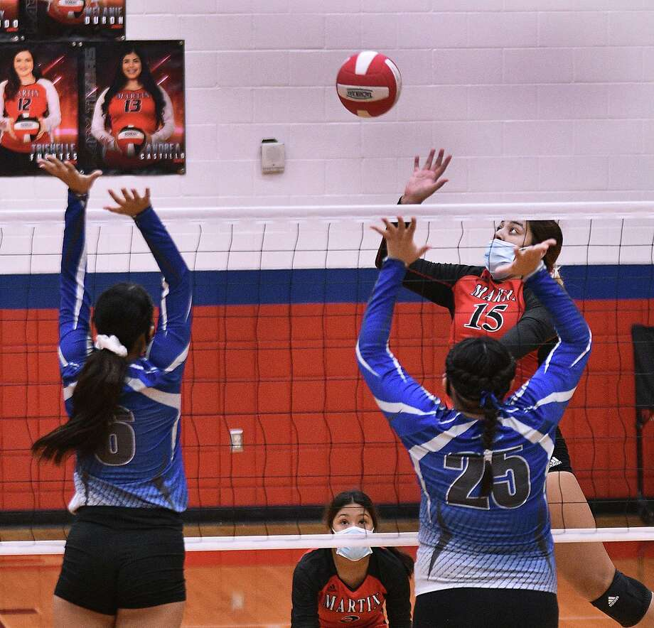 Melanie Duron had game highs of 24 kills, 15 points and five aces and added five blocks in Martin's 3-1 win Friday over Cigarroa. Photo: Cuate Santos /Laredo Morning Times / Laredo Morning Times