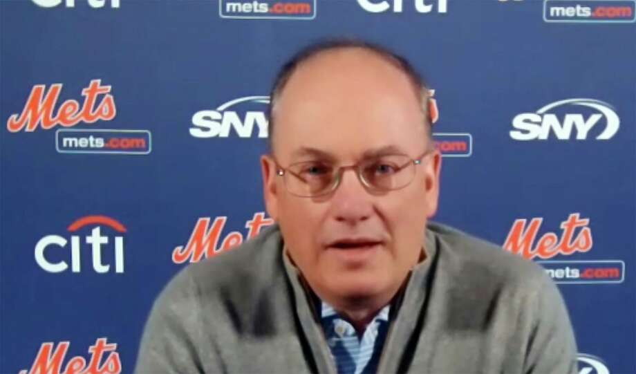 This photo from a Zoom press conference shows New York Mets owner Steve Cohen, Tuesday, Nov. 10, 2020. (New York Mets via AP) Photo: Associated Press / AP