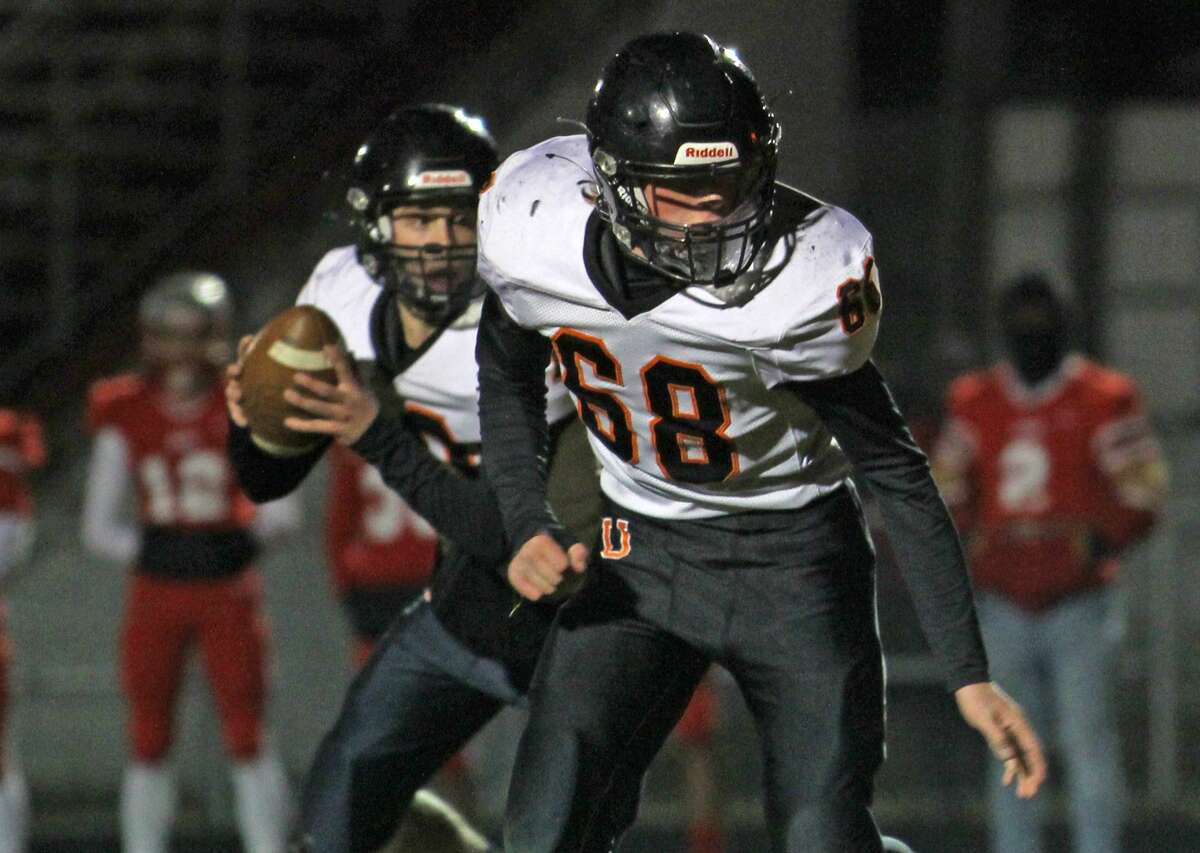 The Ubly varsity football team won its second straight district championship on Friday night with a 42-0 victory over Flint Beecher.