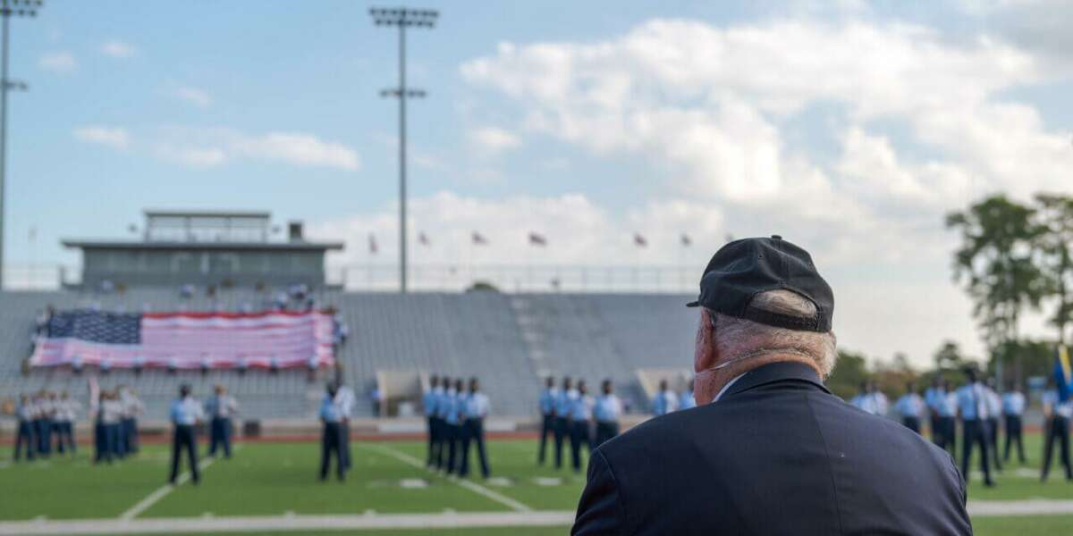 Klein ISD honored veterans during the district's 20th Annual Veterans Day Ceremony at Klein Memorial Stadium on Nov. 11, 2020.