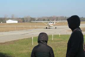 Experimental Aircraft Association Chapter 1093 hosted free flights for kids 9 a.m.-12 p.m. on Saturday morning, Nov. 14. Five kids, ranging in age from 8-17, had the chance to fly with a pilot.
