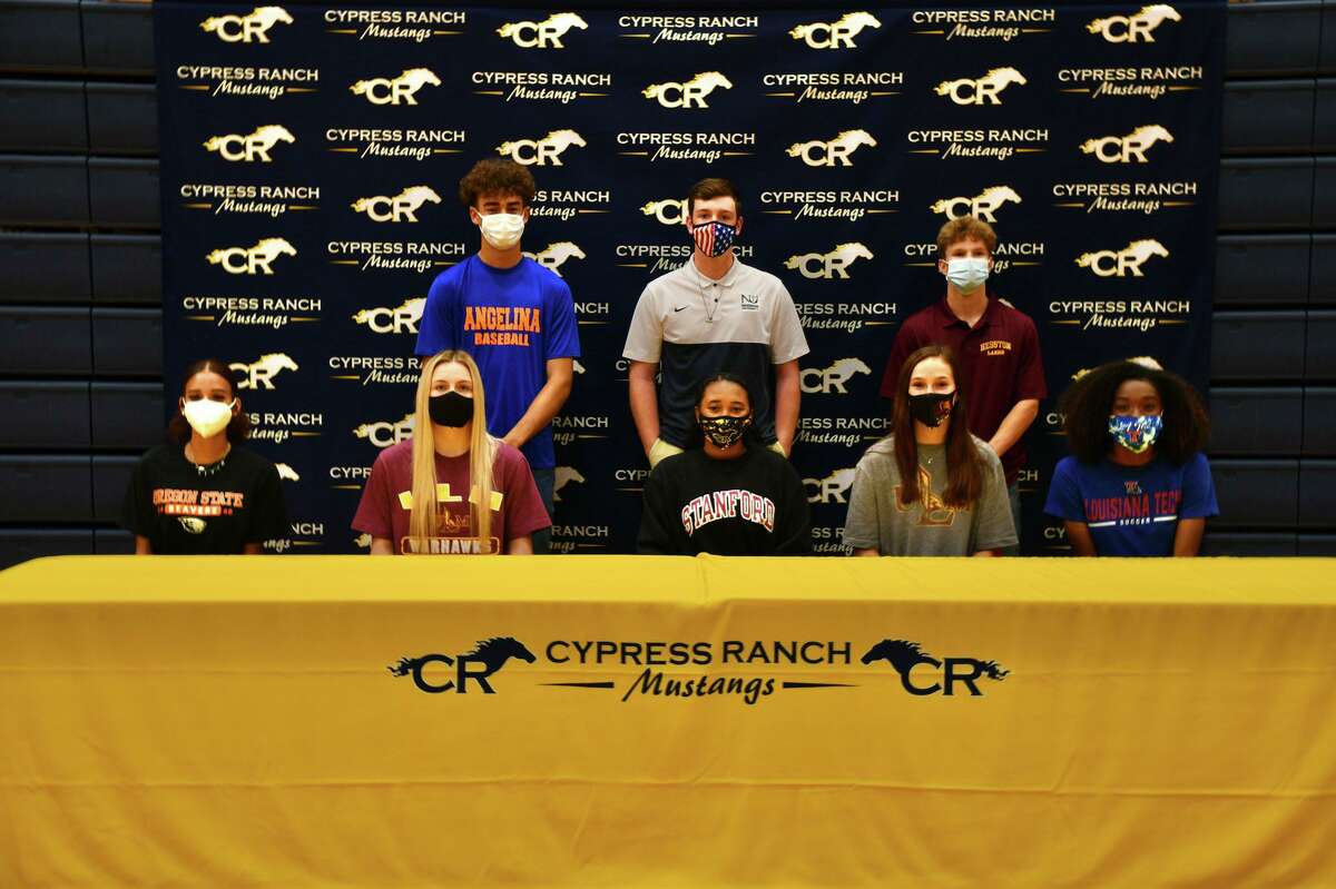 Student athletes from Cy Ranch and six other Cy-Fair ISD high schools signed their national letters of intent to play at the collegiate level during the early signing period Wednesday, Nov. 11.