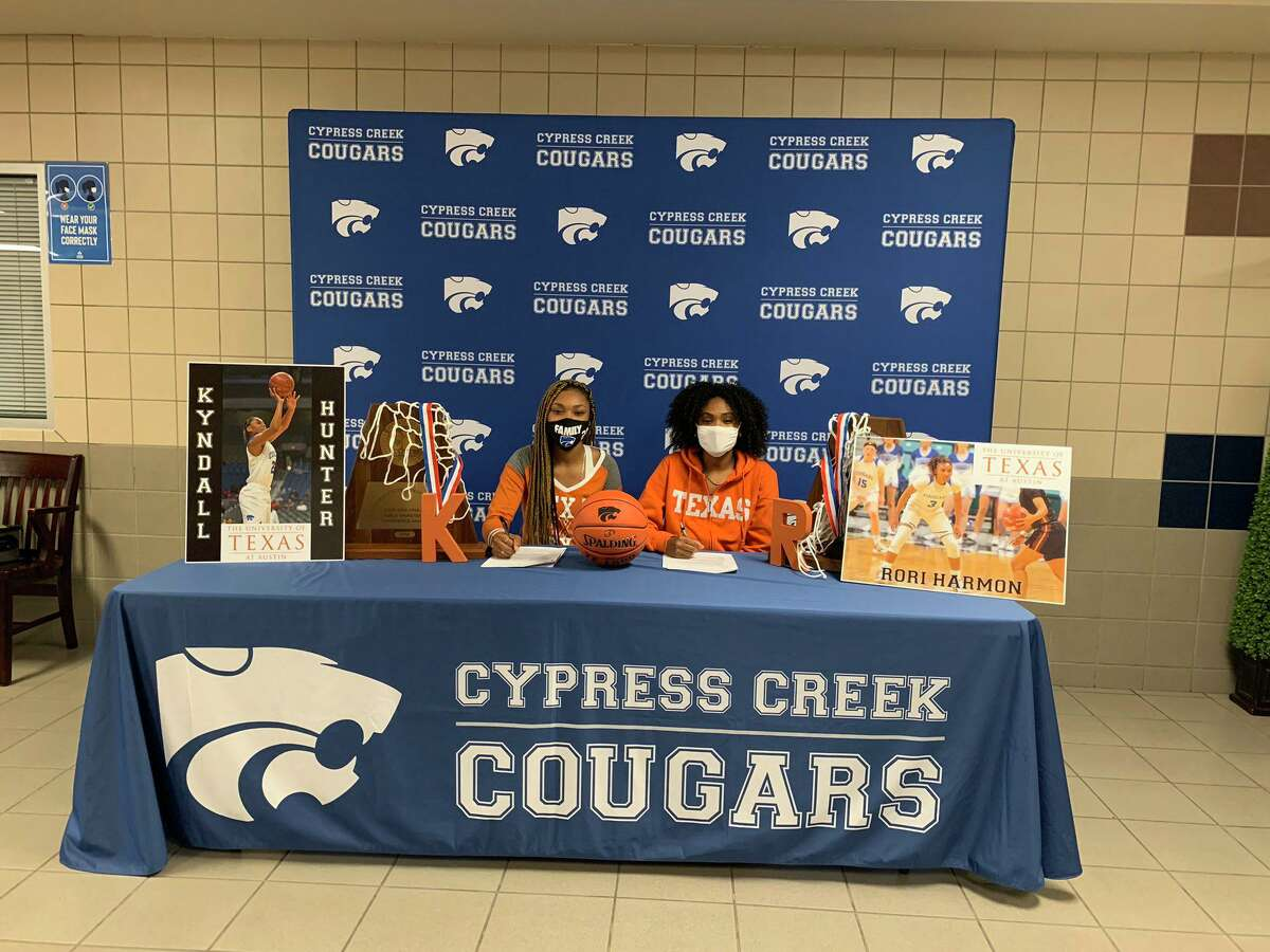 Athletes from Cy Creek like Rori Harmon and Kyndall Hunter signed their national letters of intent to play at the collegiate level during the early signing period Wednesday, Nov. 11.