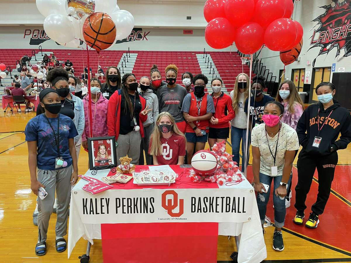 Athletes from Langham Creek like Kaley Perkins signed their national letters of intent to play at the collegiate level during the early signing period Wednesday, Nov. 11.