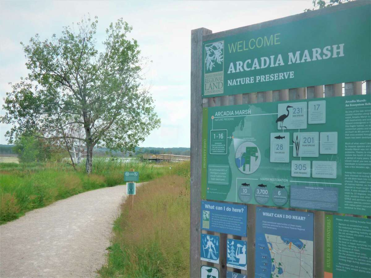 The Grand Traverse Regional Land Conservancy was awarded a$136,752 grantthrough the Manistee County Community Foundation's Minger Family Endowment Fund to expand recreation access to the Arcadia Marsh Nature Preserve. (File Photo)