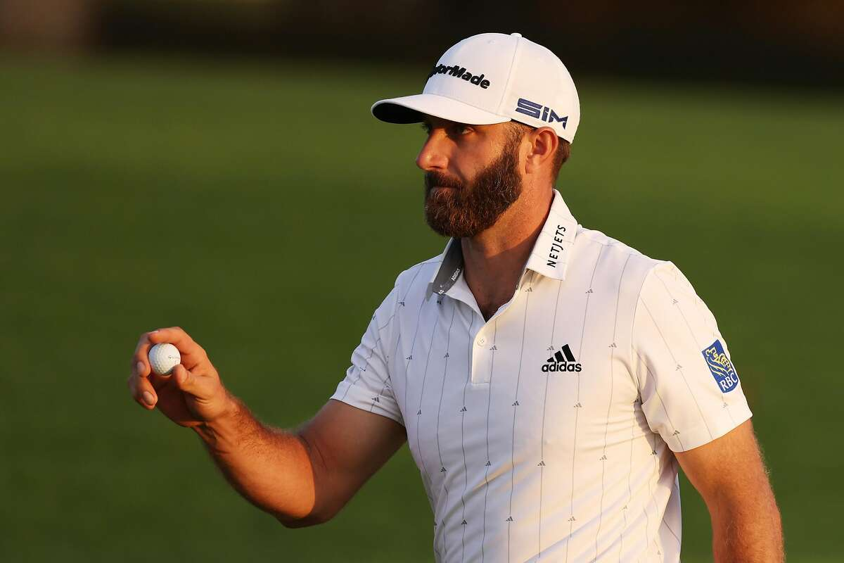 Dustin Johnson's 7-under 65 - another bogey-free round - took him to 16-under 200, tying the 54-hole record set in 2015 by Jordan Spieth.