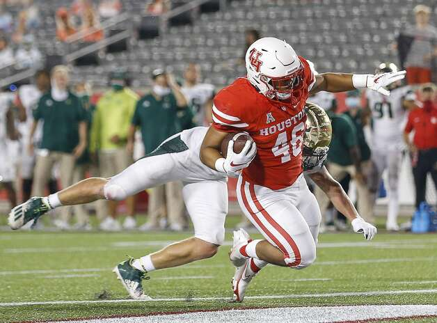 Houston Cougars Jame Fullbright, III, (46) scores a touchdown during the fourth quarter of an NCAA football game Saturday, Nov. 14, 2020, at TDECU Stadium in Houston. Photo: Jon Shapley/Staff Photographer / © 2020 Houston Chronicle