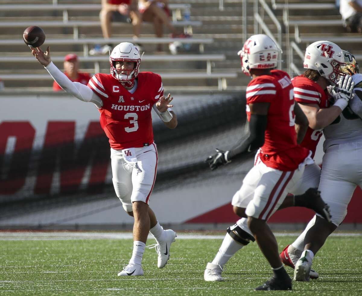 Clayton Tune (3) has hardly had a conventional career to date at UH.
