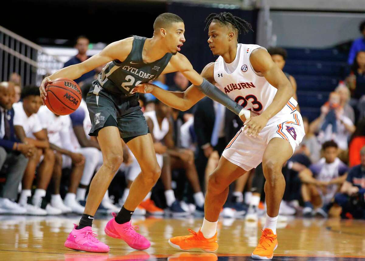The Spurs' pick at No. 11, whether it's Vanderbilt swingman Aaron Nesmith, top, Iowa State point guard Tyrese Haliburton, bottom left, Auburn forward Isaac Okoro or someone else, won't have the benefit of summer leagues to get up to speed.