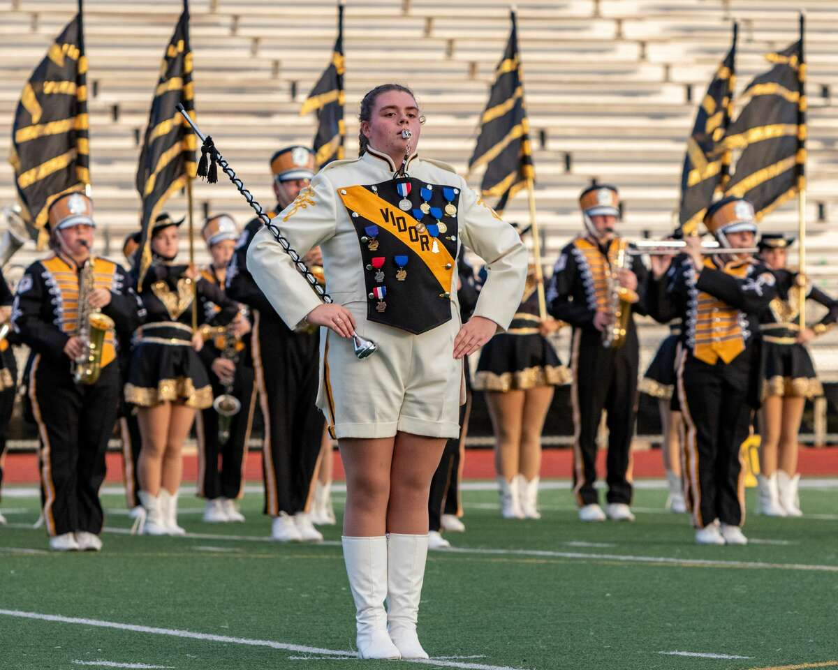 The Mighty Pirate Marching Band of Vidor High School performs during the contest. The UIL - Region Marching Band Contest was held a Port Neches-Groves High School Saturday afternoon with many area bands participating. Photo made on November 14, 2020. Fran Ruchalski/The Enterprise