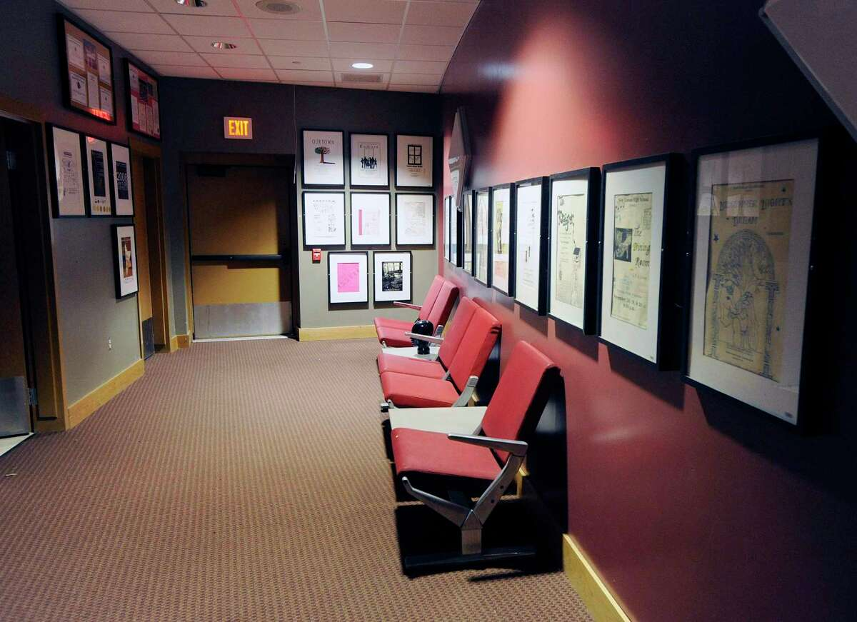 The interior lobby of the Lapham Auditorium at New Canaan High School is pictured during a previous spring season. The play