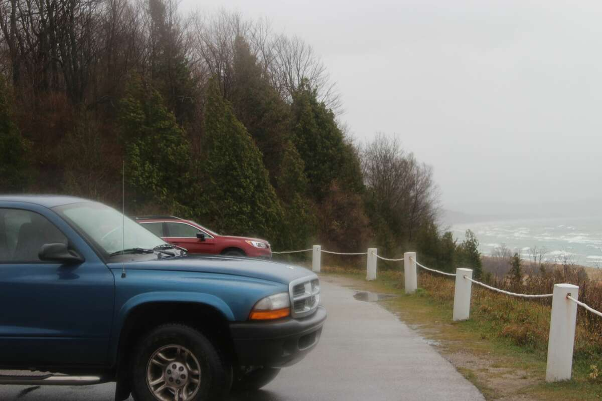 High winds on the opening day of firearm deer season saw lots of wave action and blowing sand along the coastline, where 50 MPH gusts were expected by the National Weather Service.