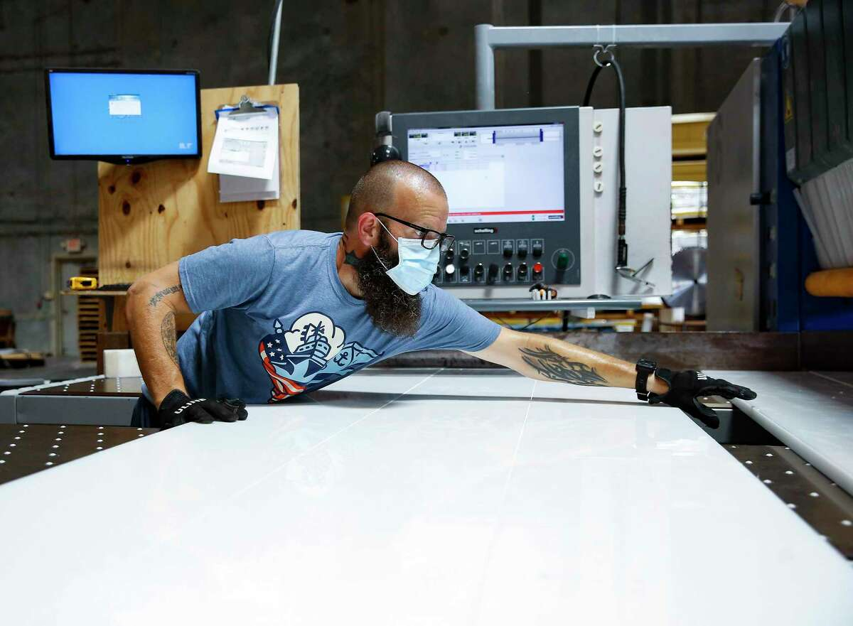 Companies are installing products in the workplace such as plastic shields made by Professional Plastics in Houston in an effort to keep employees safe.