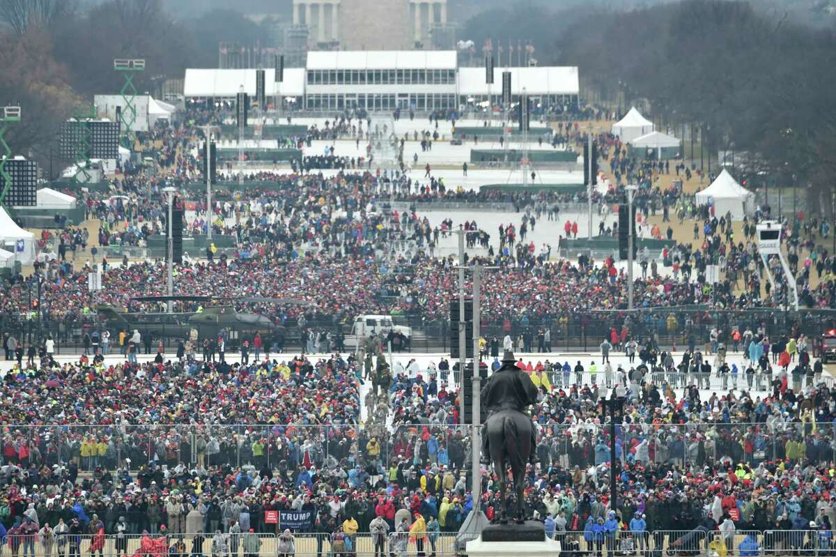 A view of the crowd at the U.S. Capitol ahead of the inauguration of President Donald J. Trump on Jan. 20, 2017.