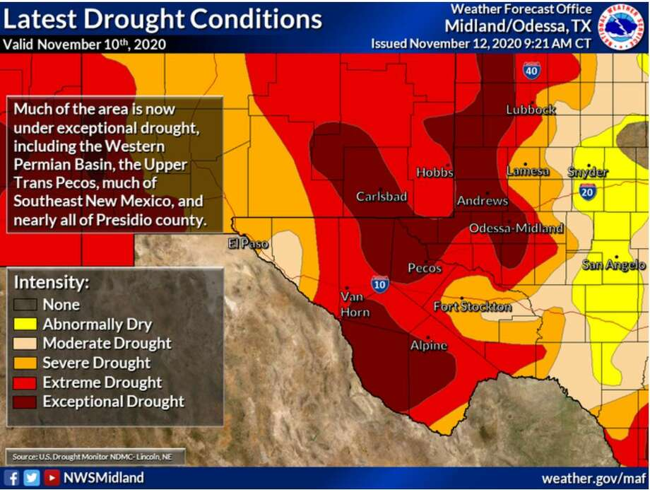 40 percent of our area is now in exceptional drought as much of the area continues without significant rainfall. Memes that hilariously capture the essence of Texas' neurotic weather.>>> Photo: Midland National Weather Service
