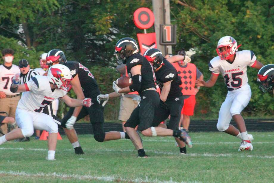 Reed City's football home game for the regional title with Freeland, scheduled for this Friday, is now up in the air after Sunday's announcement of a pause of various activities, including prep sports. (Pioneer file photo)