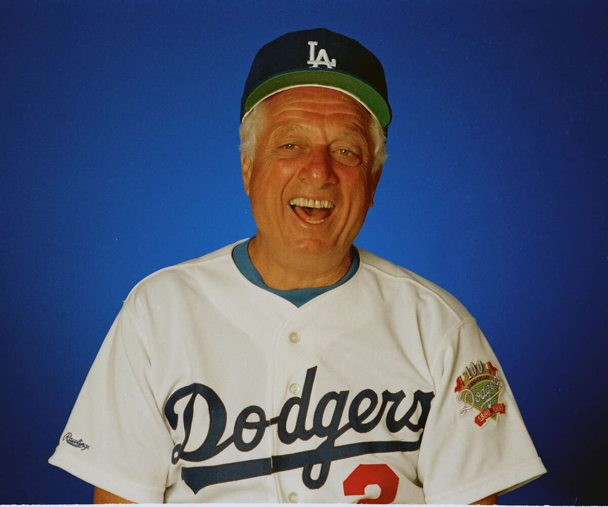 FILE -- This is a March 1990, file photo showing Los Angeles Dodgers manager Tom Lasorda. Lasorda will soon take his place alongside other Los Angeles Dodgers stars in the Smithsonian Institution. The Hall of Fame manager will have his portrait hung in the museum's National Portrait Gallery. The unveiling is set for Sept. 22, Lasorda's 82nd birthday. (AP Photo/File)