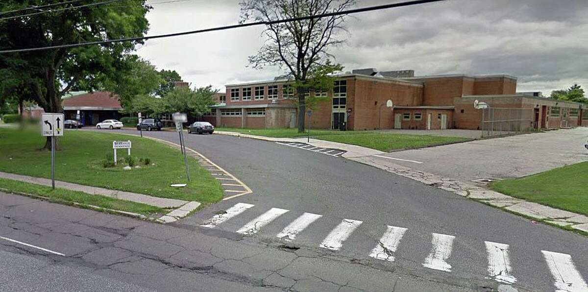 A Google Streetview screenshot of Nathan Hale Middle School in Norwalk, Conn. The school will go to remote learning for Monday, Nov. 16, 2020, after a confirmed COVID-19 case.