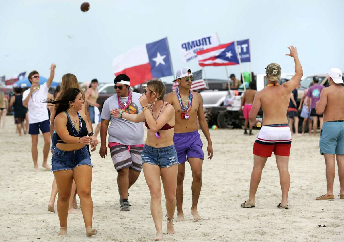 College students hit the beach in Port Aransas. Spring Break has hit Port Aransas in a big way and it will only get bigger during the coming weekend when University of Texas and Texas State will start their spring break, on March 12, 2020.