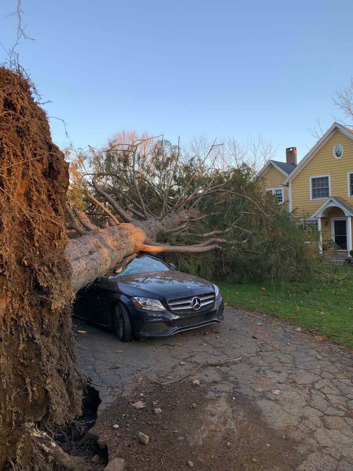 """Wally Simon's and another resident he lives with's house in Ridgefield """"took some bad damage"""" during the storm Sunday night Nov. 15 into Monday morning Nov. 16."""