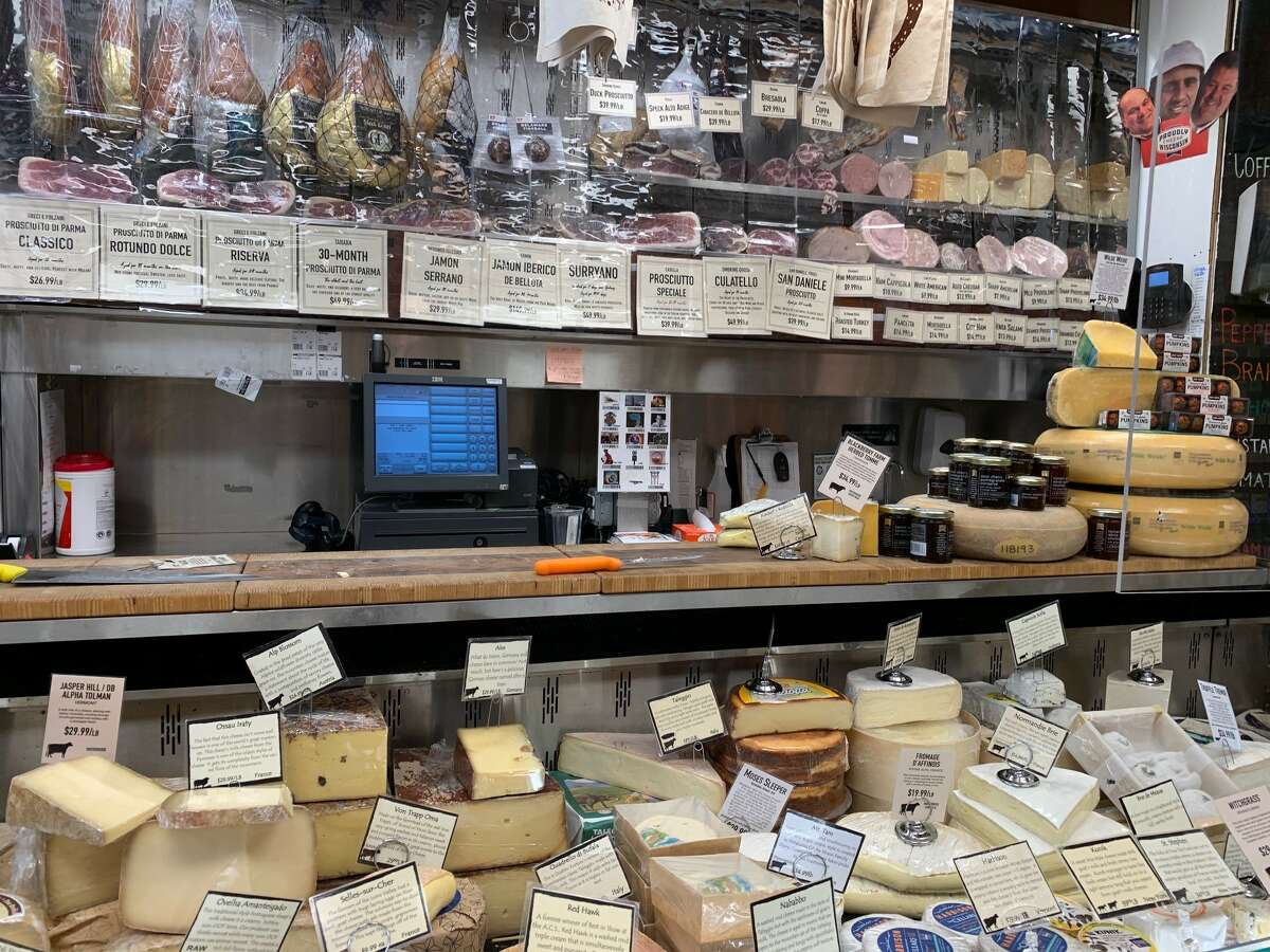 Cheeses and meats galore at Di Bruno Bros. in Philadelphia.