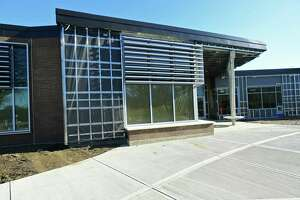 Ponus Ridge Middle School front entrance is now located at the new wing of the school Thursday, January 2, 2020, in Norwalk, Conn.
