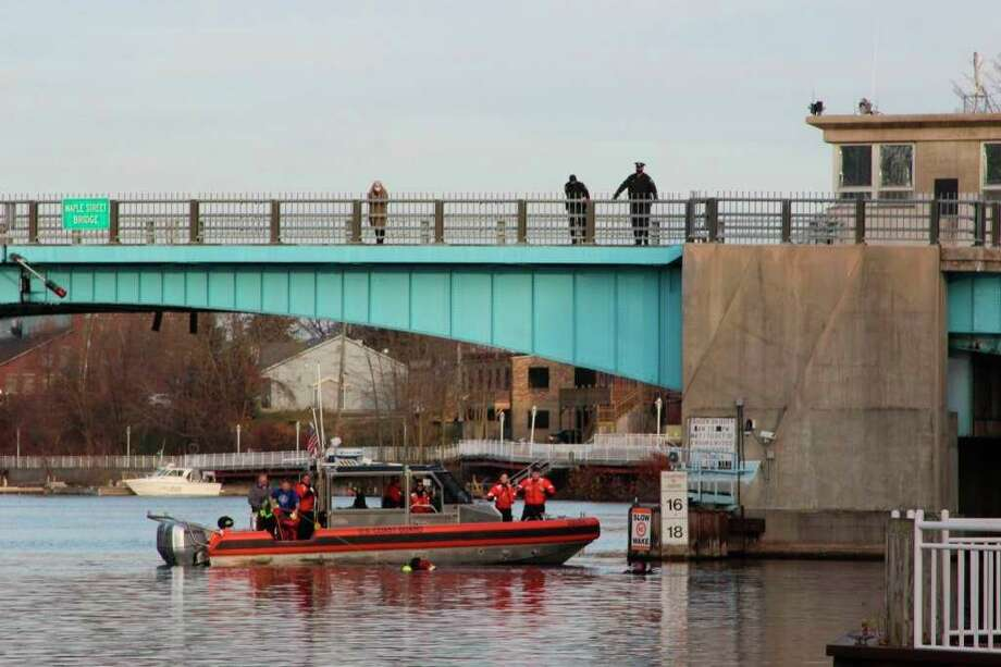 An SUV went into the Manistee River Channel around 3 p.m. on Nov. 12, 2020, near the Manistee Inn and Marina, off of River Street. Two deceased were recovered from the channel and on Monday the names were released. (File photo)
