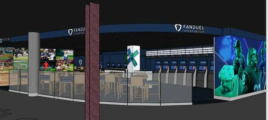 FanDuel Group is planning a sportsbook facility at Fairmount Park in Collinsville, as shown in this artist's rendering. The racetrack also will be rebranded as FanDuel Sportsbook and Horse Racing, and plans are being made to renew the $250,000 St. Louis Derby not held since 2006. Photo: Courtesy Of FanDuel Group | For The Intelligencer