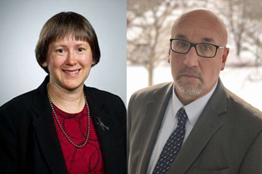 Dr. Catherine Bodnar and Fred Yanoski are seen in this combined photo. Photo: Photo Provided/Catherine Bodnar And Fred Yanoski