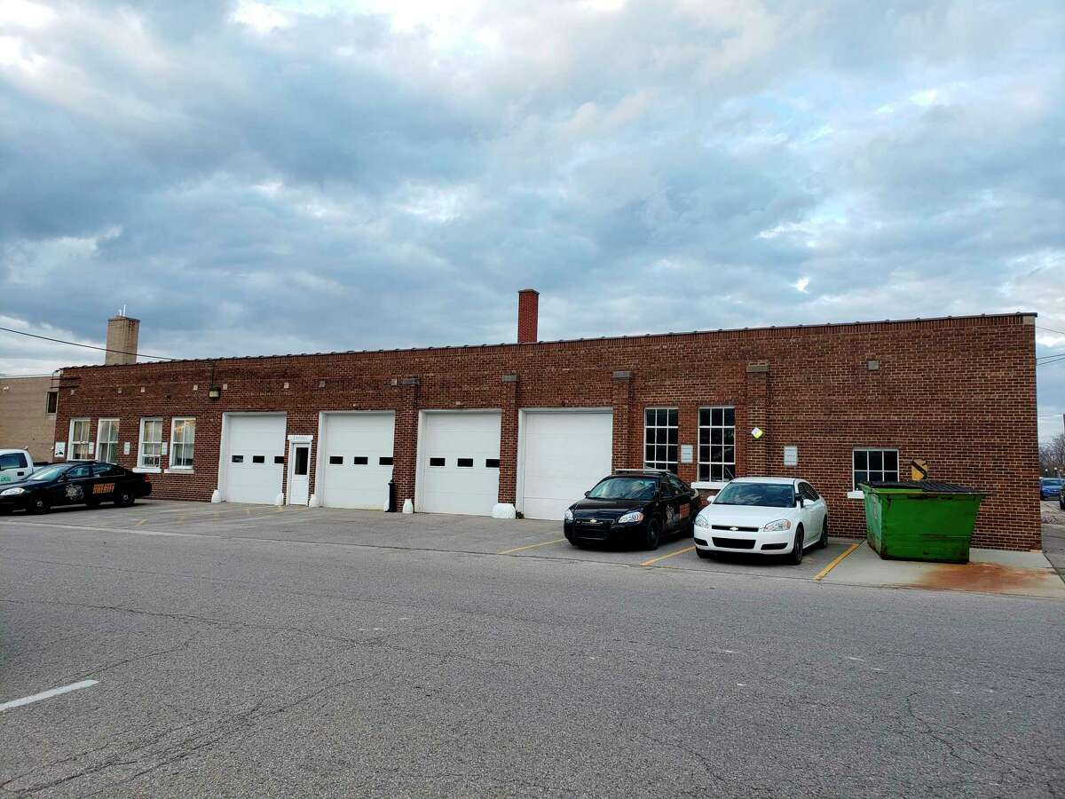 The sheriff's garage located behind the Huron County building. The county commissioners had a discussion this week about potentially replacing the garage in the future. (Robert Creenan/Huron Daily Tribune)