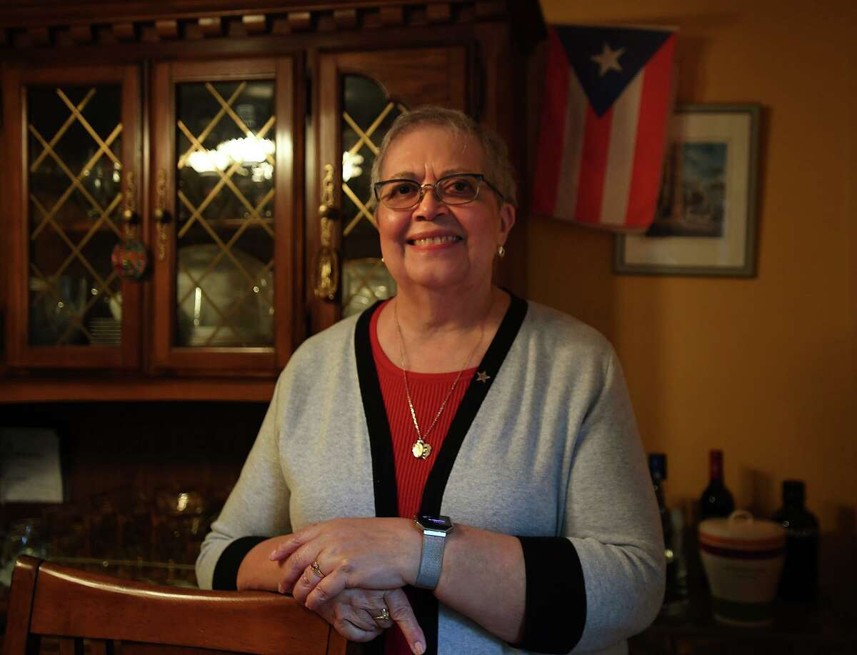 Long-time Hispanic leader Rosa Correa in her home in Bridgeport, Conn. on Thursday, November 12, 2020. Correa condemned the recent violence in Washington, D.C.