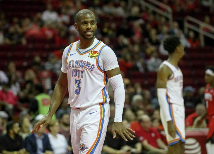 Former Rocket Chris Paul spent one season in Oklahoma City before being traded to Phoenix.
