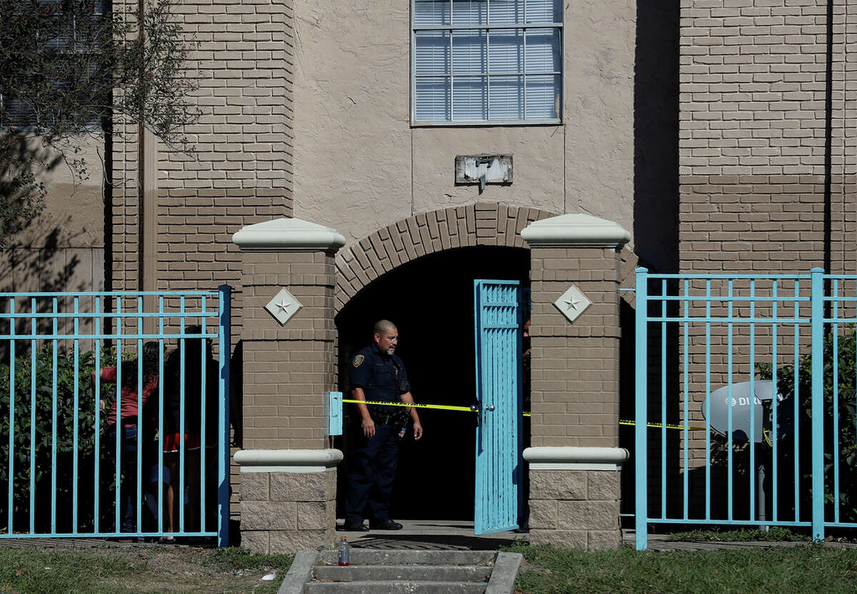 Houston Police officers responded to the scene of a fatal shooting at the 300 block of Benmar Drive on Monday, Nov. 16, 2020, in Houston.