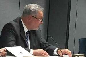Branford Superintendent of Schools Hamlet Hernandez addresses the Board of Education on Wednesday, Sept. 25, 2019