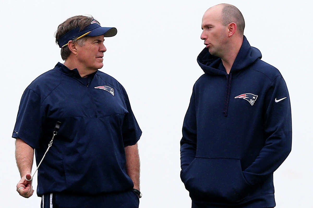 Jack Easterby (right) was the Patriots' character coach under Bill Belichick before he joined the Texans in 2019.
