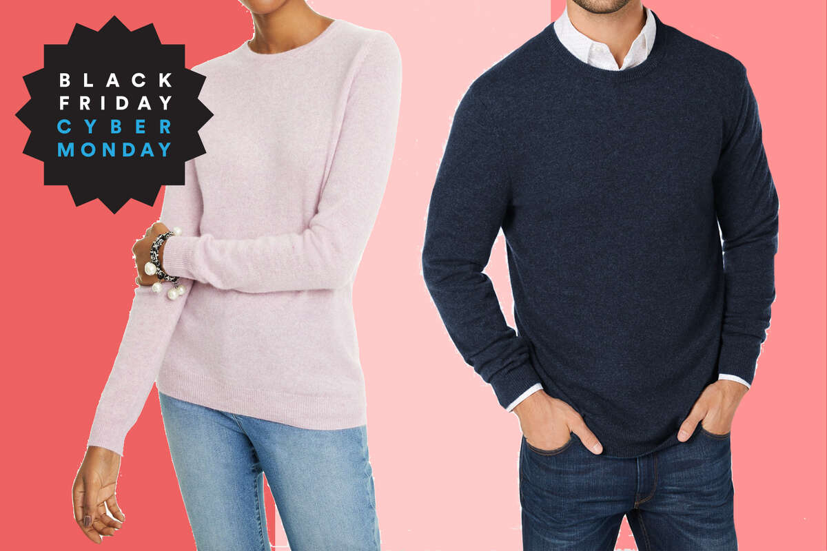 Men's: Club Room Cashmere Crew-Neck Sweater, $49.99 at Macy'sWomen's: Charter ClubCrew-Neck Cashmere Sweater, Regular & Petite Sizes, $39.99 at Macy's