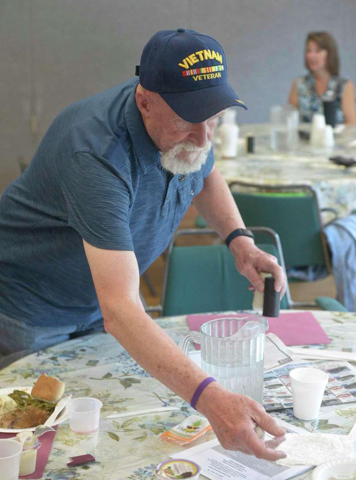Paul Trudel volunteers at the Senior Center on Friday, June 7, 2019, in Danbury, Conn.