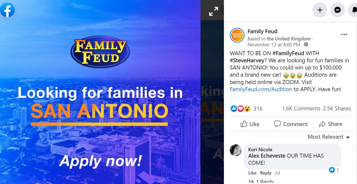 San Antonio families have an opportunity to be on the popular game show