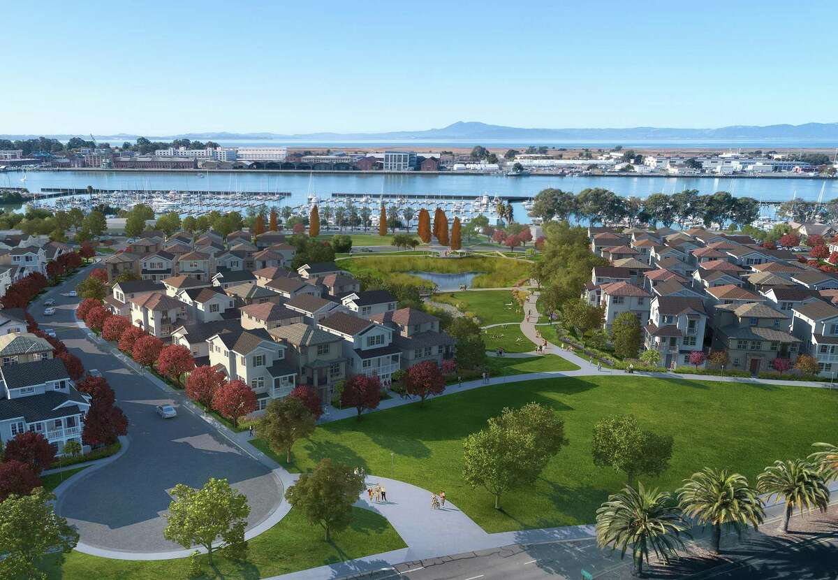 The detached, three-story townhouses at the Mariner's Cove development in Vallejo were designed by Jennifer Mastro, a principal at Brentwood's SDG Architects.